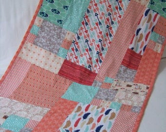 Blanket style quilt coral