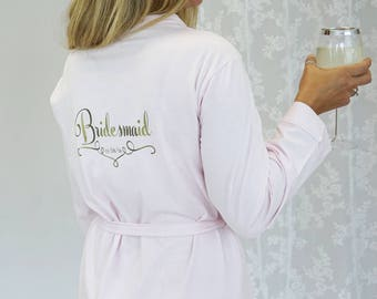 Sale Bridesmaids Robes - Reduced Bridal Party Robes - End of Line Slight Seconds-  Personalised Wedding Dressing Gown