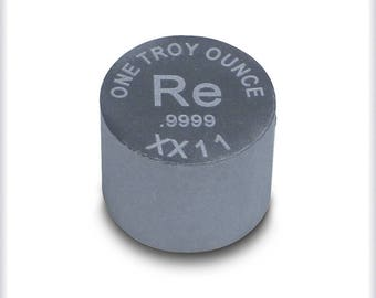 Rhenium metal ingot - one troy ounce - 99.99% pure bullion by RWMM