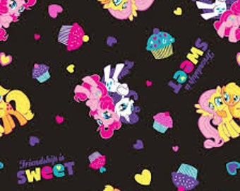 "My Little Pony Friendship is Sweet by Springs Creative, 43-44"" wide, 100% cotton, by the half yard"