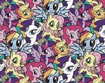 "My Little Pony Packed Pony Magic by Springs Creative, 43-44"" wide, 100% cotton, by the half yard"