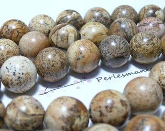 10 pearls Jasper landscape 10mm