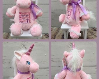 Unicorn Christening Teddy