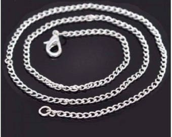Link chain with lobster clasp