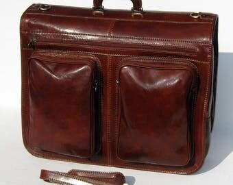 Enzo Olletti Leather Weekender Garment Carrier