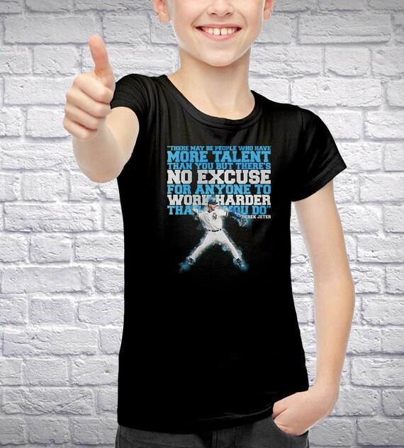 Derek Jeter Youth T-Shirt [Derek Jeter / Jeter / Youth T-Shirt / Yankees / #2]