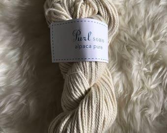 Purl Soho Alpaca Pure Yarn // Heirloom White