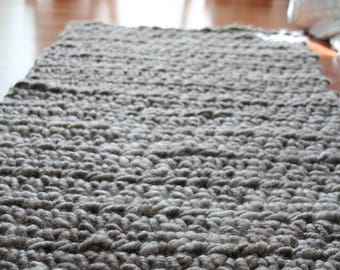 Rectangular Crocheted Rug