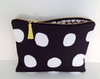 Peta large zip clutch.