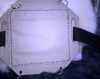 leather shoulder strap or belt bag