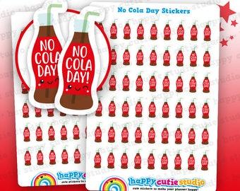 54 Cute No Cola Day/Coca Cola/Soda/Pop Planner Stickers, Filofax, Erin Condren, Happy Planner,  Kawaii, Cute Sticker, UK