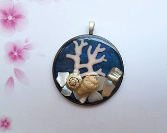Sea Ocean Coral Pendant Necklace