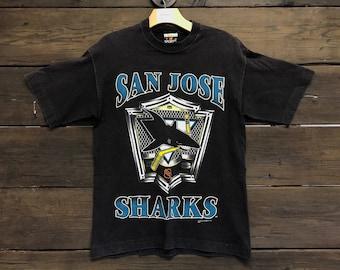 1990s/90s NHL San Jose Sharks Graphic Tee