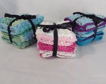 Crochet Cotton Washcloth- 3 pack