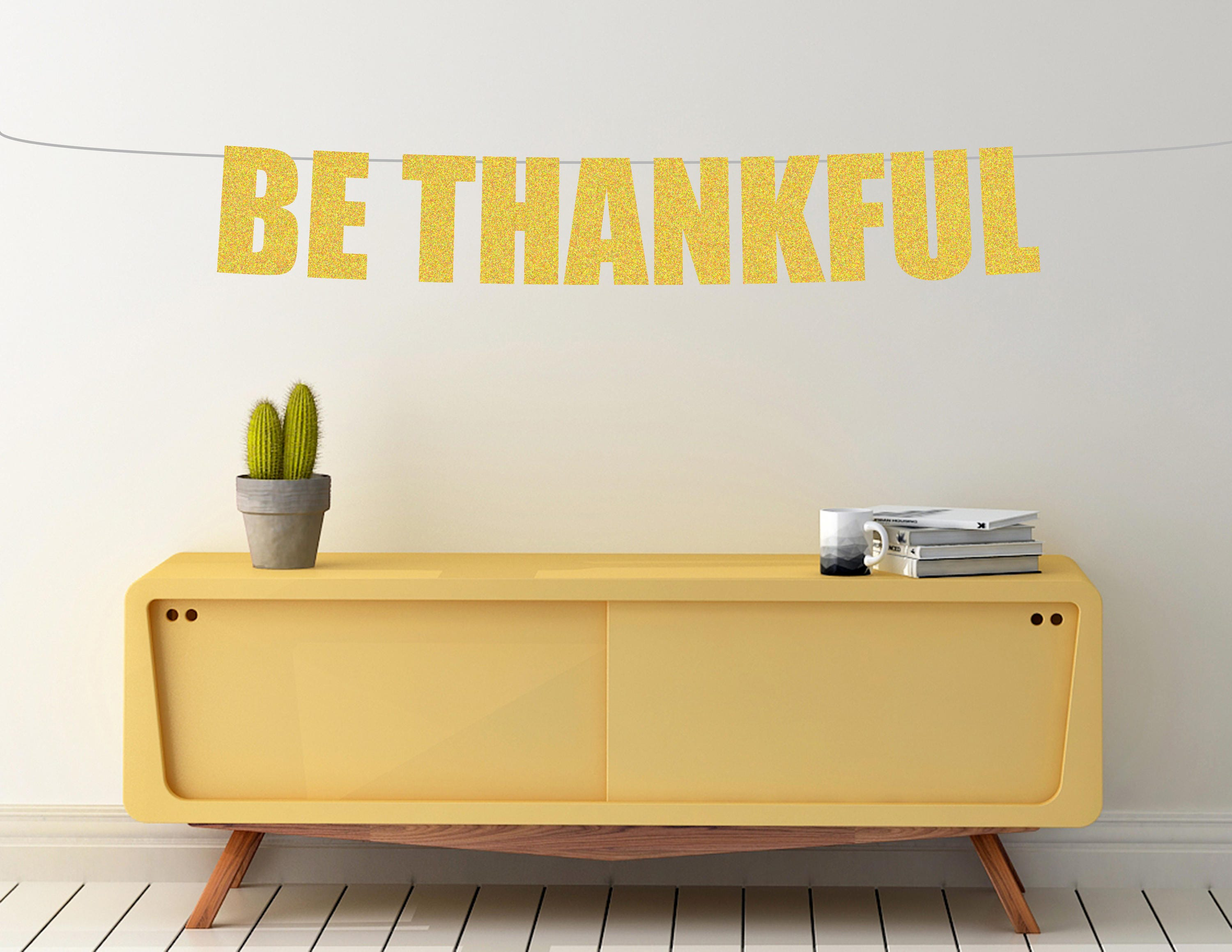 Be Thankful banner, thanksgiving banner, thanksgiving decorations ...