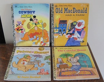 Books, Little Golden Books, Set of 4 Children's Books, Children's Books