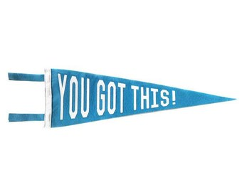 You Got This! Pennant - Blue