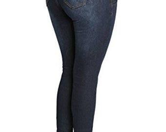 JD Jeans USA Designer Dark Blue Denim High Waist Skinny Jeans Juniors 0 1