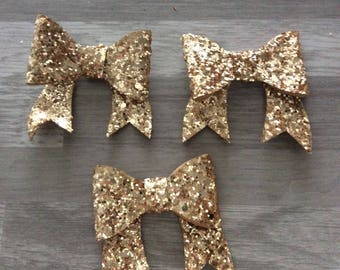 1 flower applique gold 3D bowtie