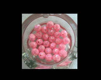 10 Pearl acrylic pink size 12mm