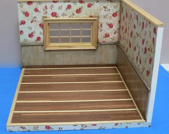 Roombox Base for Scene 1:12 dolls House, diorama to decorate with furniture
