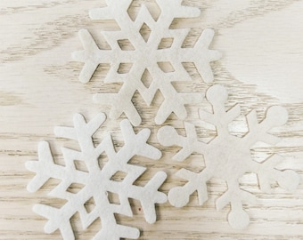 Small Wool Snowflake Cut-outs BUNDLE of 3