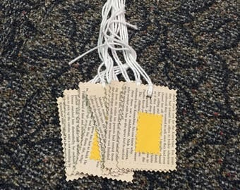 Book page gift tag