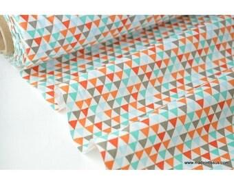multi triangle printed cotton Poplin fabric Indian x50cm