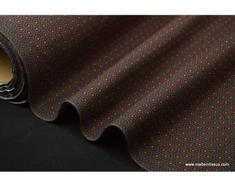 Tissu popeline coton imprimé ALVEN petits points orange x50cm