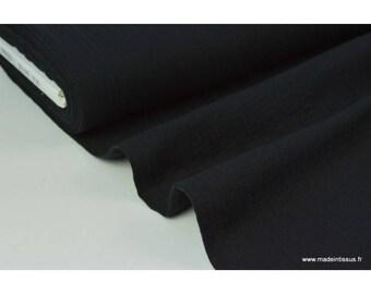 Double gaze coton noir .x1m