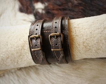 strength leather bracelet. Bracelet of strength; wrist strength gray; Wide leather bracelet