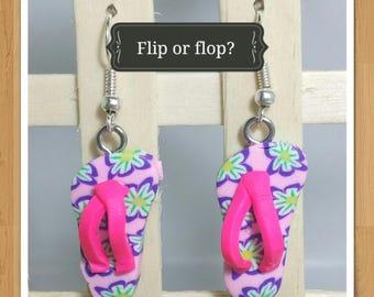 FLIP FLOP EARRINGS thong earrings