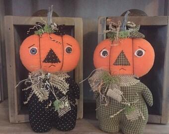 Primitive Pumpkin Stumpkin Dolls