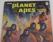 Vintage Coloring Book Planet of the Apes 1974