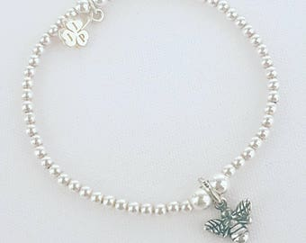 Sterling Silver 3mm Beaded Bracelet
