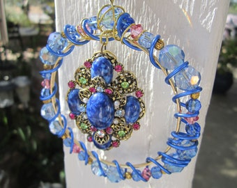 Blue Vintage Sun Catcher- #637