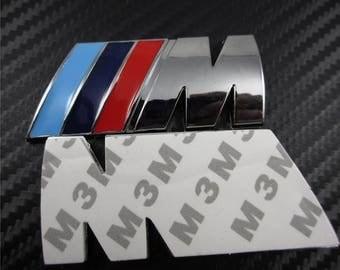 New BMW M Power Sport logo Tech Rear Boot Side Badge, 80X30MM,1/2/3/4/5/6/7 Series