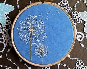 Pattern Embroidery downloads - pdf pattern - Traditional  Embroidery Pattern PDF - Embroidery kit - Dandelion pattern