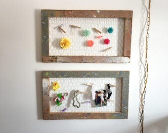 Chicken wire wall decor