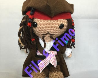 Jack Sparrow - Pirates of the Carabbean - Chibi Doll Amigurumi