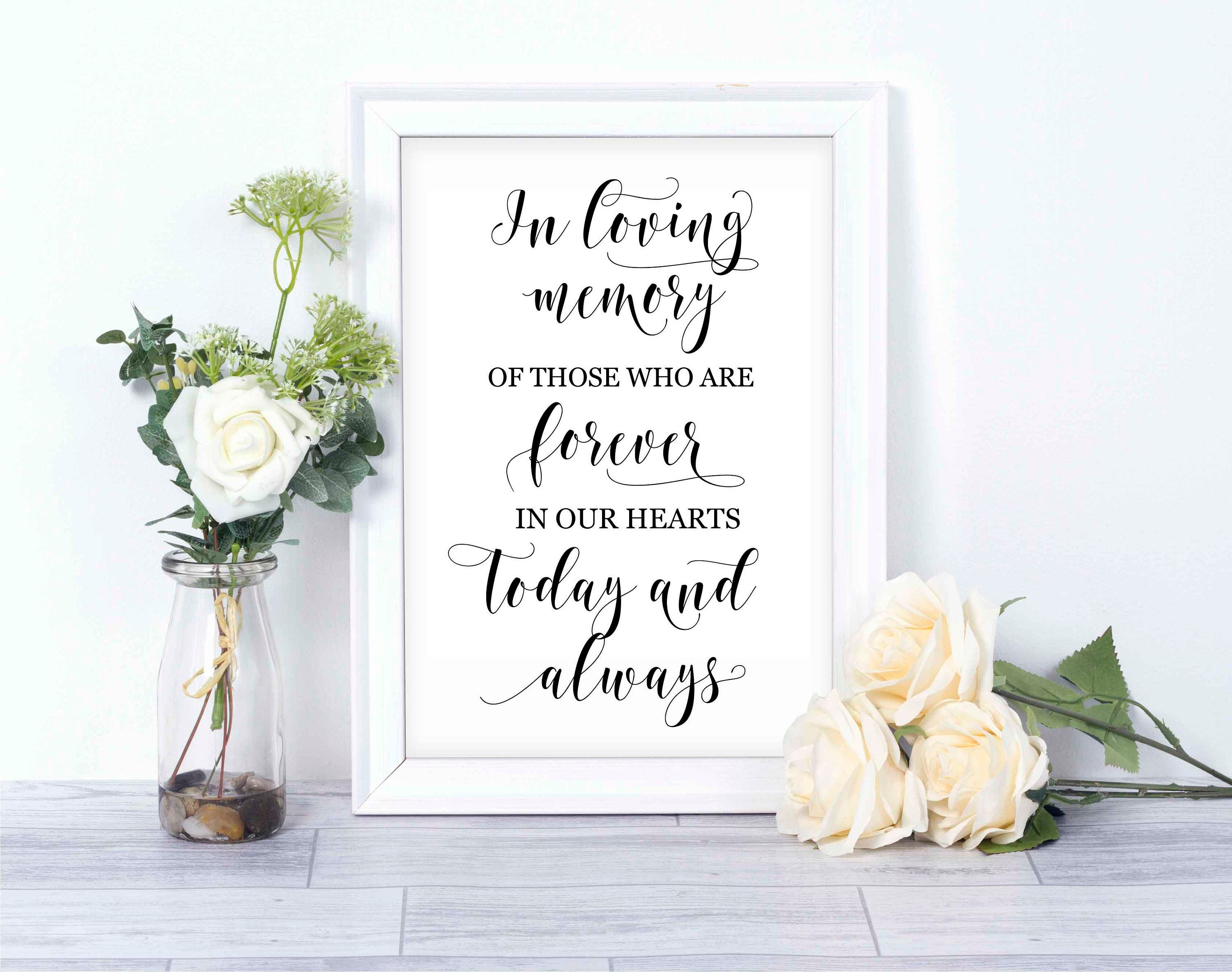 in loving memory wedding sign/ instant download printable/ wedding, Powerpoint templates