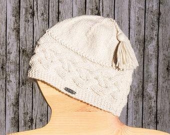 OFF white 100% baby alpaca Hat