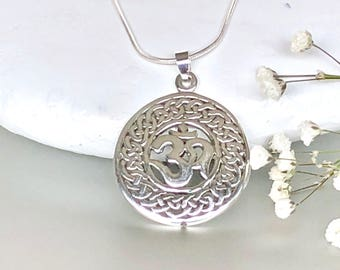 Silver Om Charm, Silver Charm, Jewelry For The Soul, Lucky Charm, Minimalist Jewelry, Sterling Silver Pendant, Silver Chain,P120