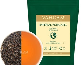 2017 Harvest Second Flush, Imperial Muscatel Darjeeling Tea Leaves (50 Cups) - 100% Pure Unblended, Grown & Shipped Direct from India,3.53oz