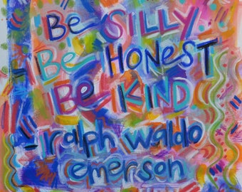 Ralph Waldo Emerson Quote Painting