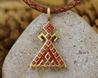 Makosh pendant. Handmade Bereginya. Slavic amulet. Women's protective talisman. Nordic Female Protective Amulet. Scandinavian Women Symbol.