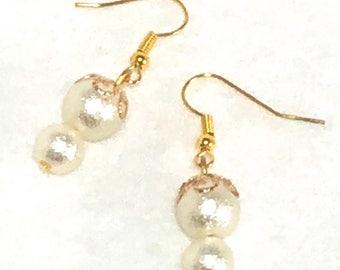"""Earrings """"double pearls - 1"""""""