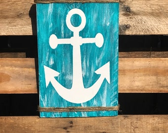 Anchor Wooden Sign