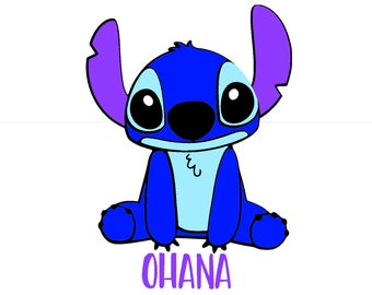 Stitich Lilo and Stitch 'Ohana Personalized  Family Disney Vacation Matching Family Husband Father Son Disney Iron On Vinyl Decal for Shirt
