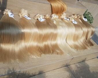 """Clip in human hair,Russian hair,Slavic hair,Luxury quality,Remy hair,hand made,Human hair , 22"""",Long hair ,Blonde hair,Brown hair"""